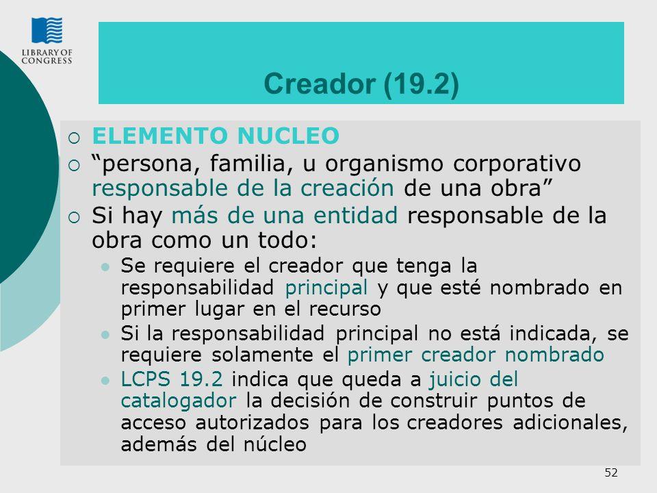 Creador (19.2) ELEMENTO NUCLEO