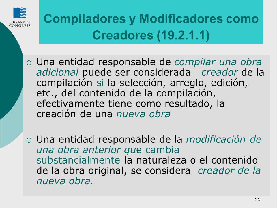 Compiladores y Modificadores como Creadores (19.2.1.1)