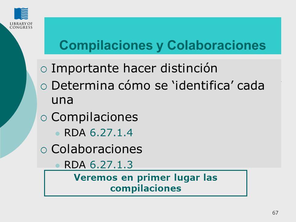 Compilaciones y Colaboraciones