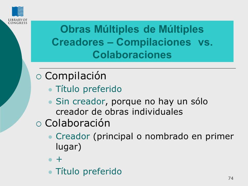 Obras Múltiples de Múltiples Creadores – Compilaciones vs