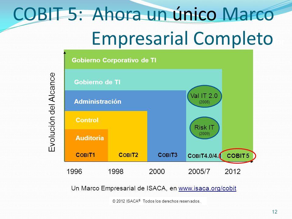 COBIT 5: Ahora un único Marco Empresarial Completofor