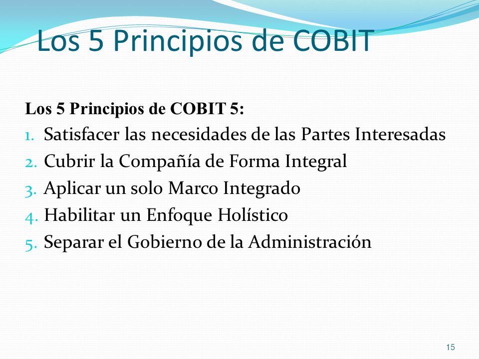Los 5 Principios de COBIT