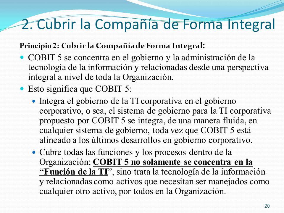 2. Cubrir la Compañía de Forma Integral