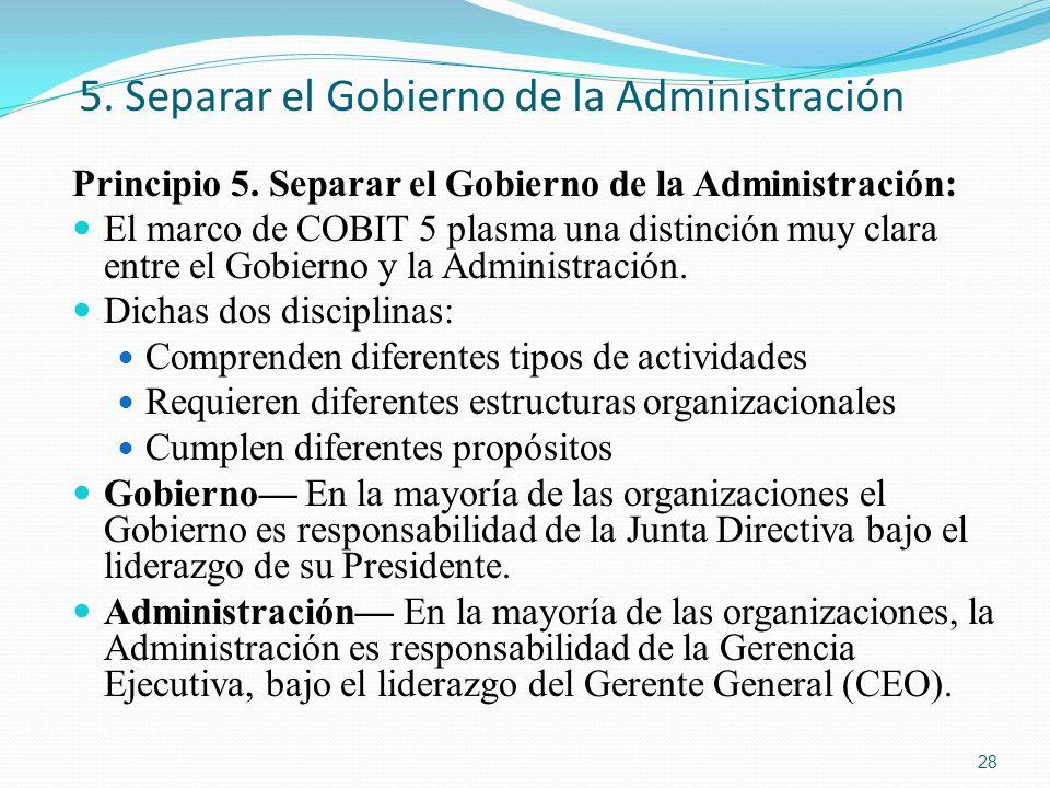 5. Separar el Gobierno de la Administración