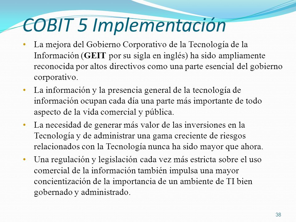 COBIT 5 Implementación