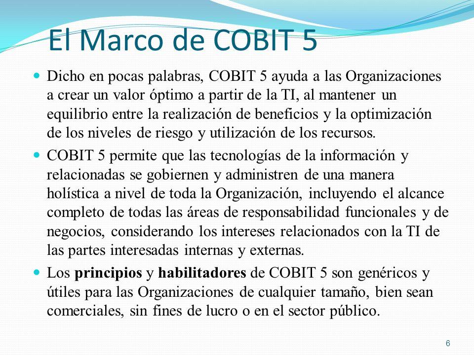 El Marco de COBIT 5