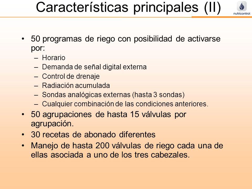 Características principales (II)