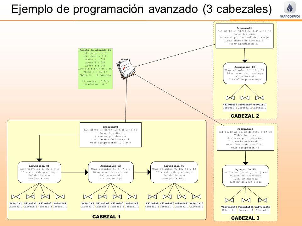 Ejemplo de programación avanzado (3 cabezales)