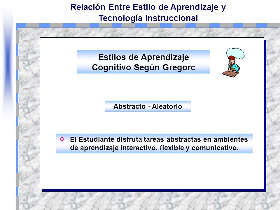 Estilos de Aprendizaje Cognitivo Según Gregorc
