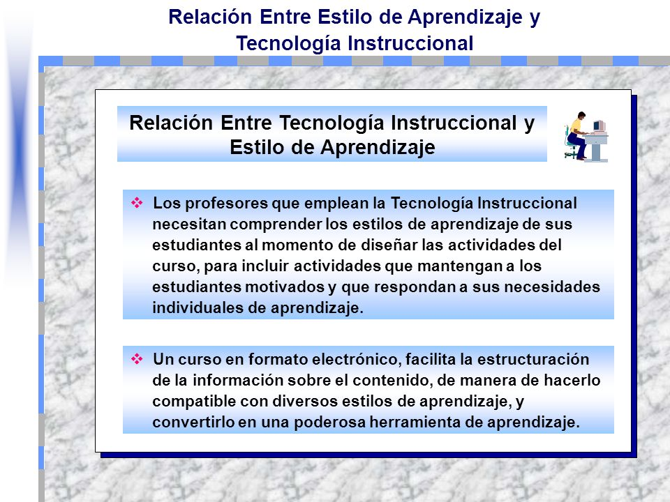 Relación Entre Tecnología Instruccional y Estilo de Aprendizaje