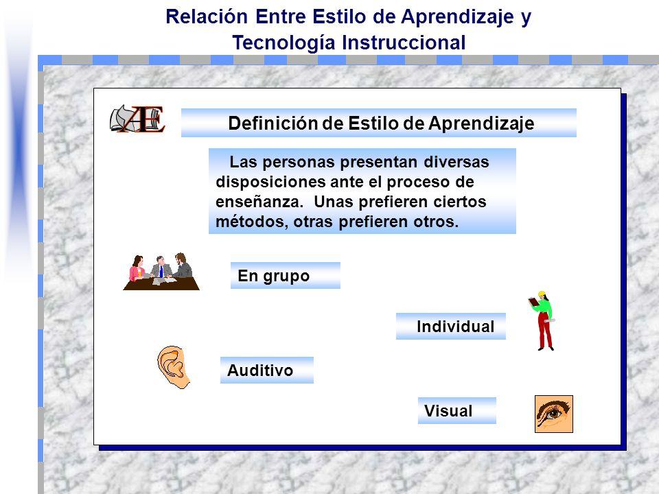 Definición de Estilo de Aprendizaje