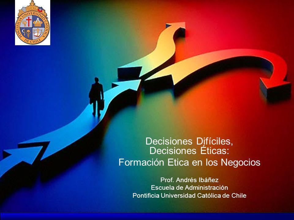 Formación Etica en los Negocios