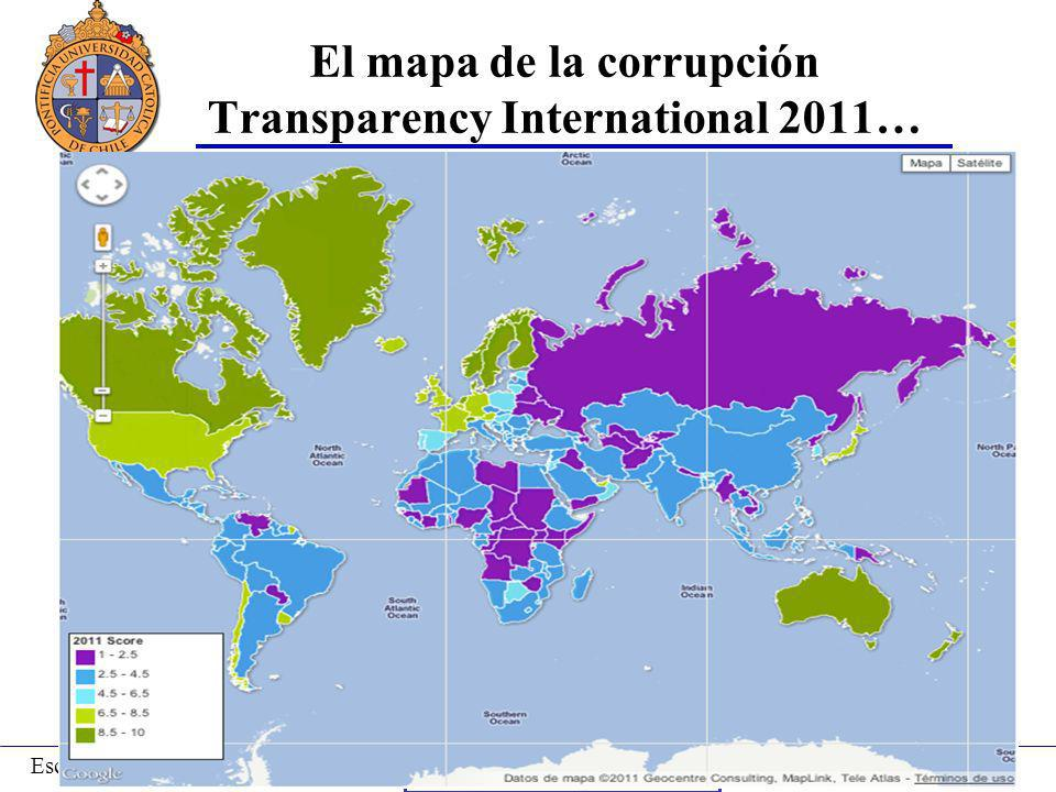 El mapa de la corrupción Transparency International 2011…