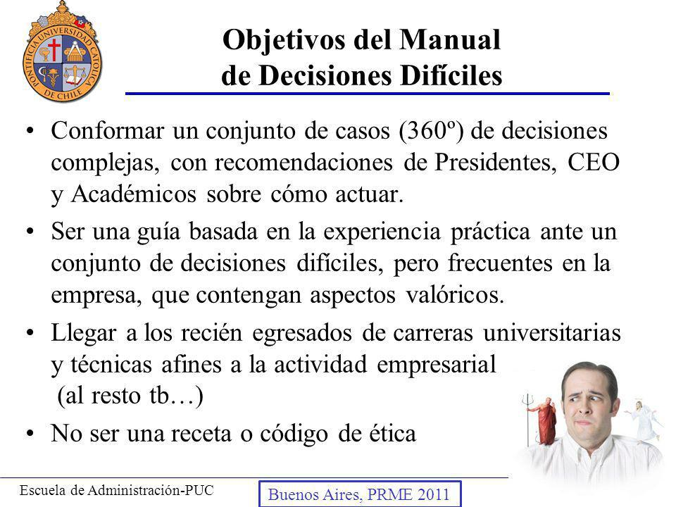 Objetivos del Manual de Decisiones Difíciles