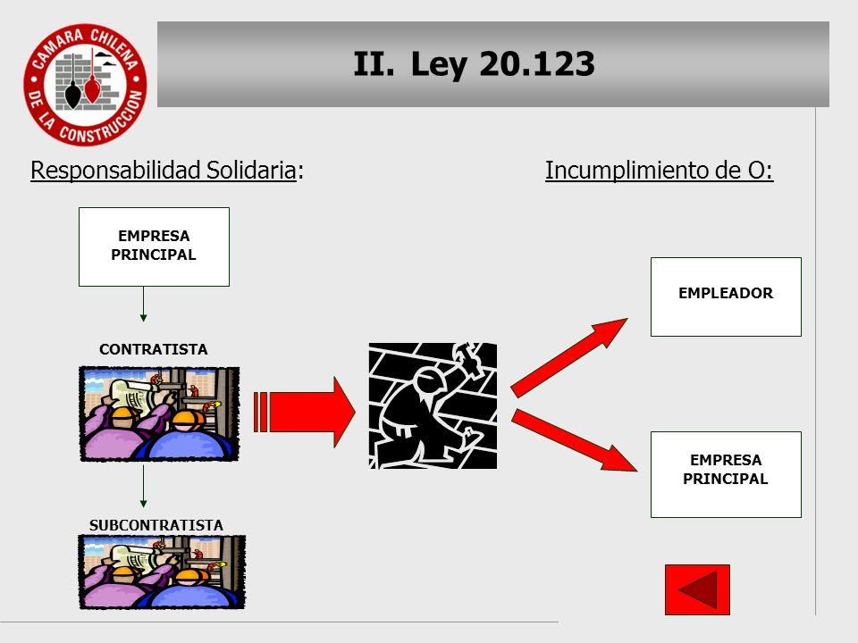 Ley 20.123 Responsabilidad Solidaria: Incumplimiento de O: