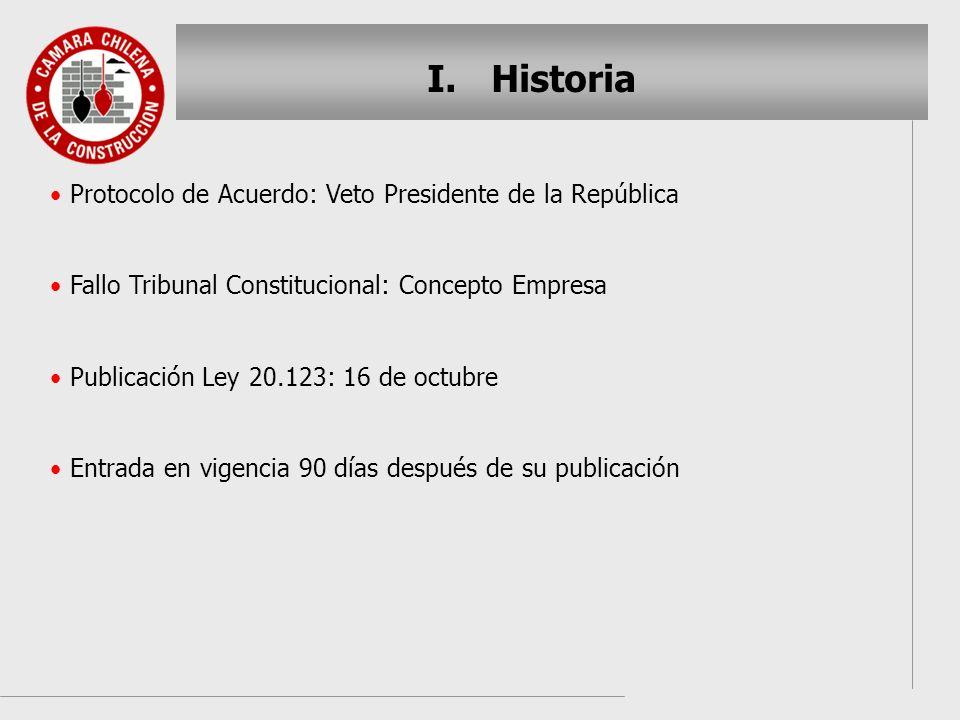 Historia Protocolo de Acuerdo: Veto Presidente de la República