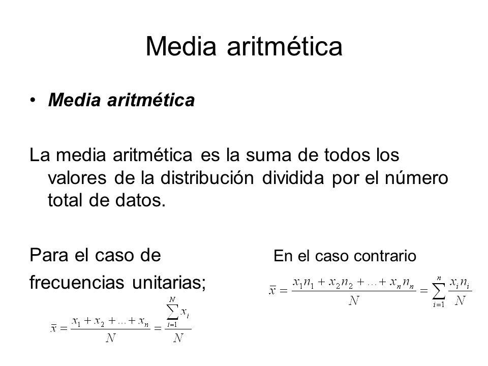 Media aritmética Media aritmética