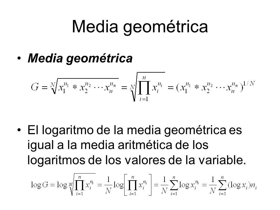 Media geométrica Media geométrica