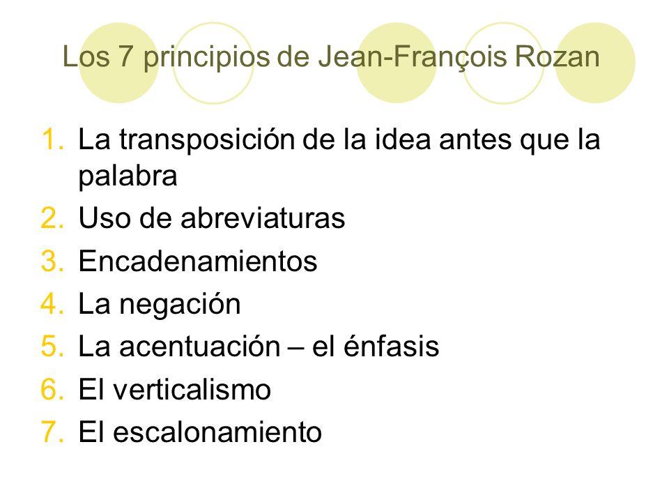 Los 7 principios de Jean-François Rozan