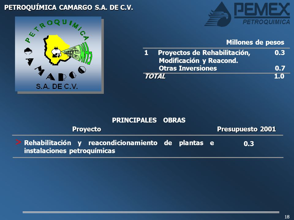 PETROQUÍMICA CAMARGO S.A. DE C.V.