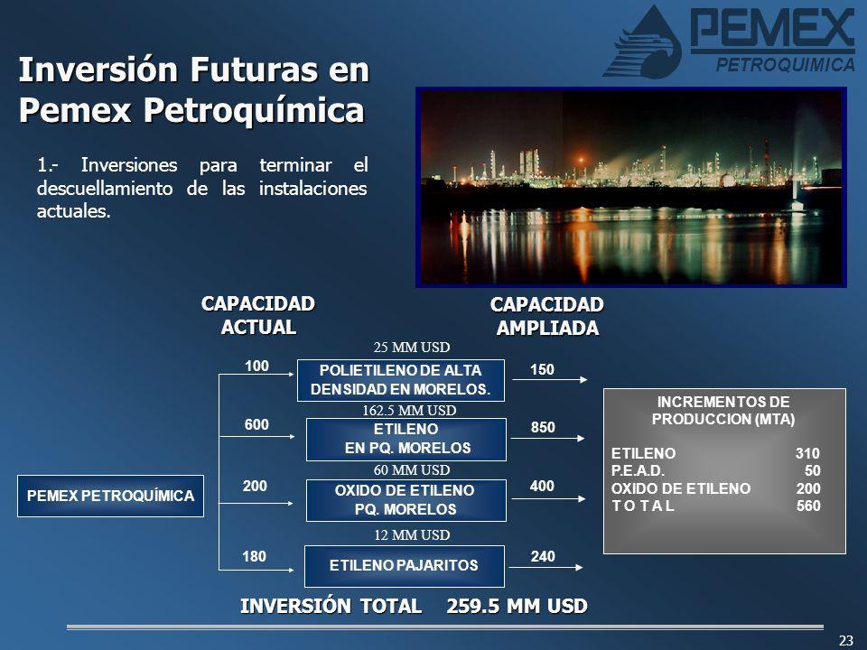 Inversión Futuras en Pemex Petroquímica