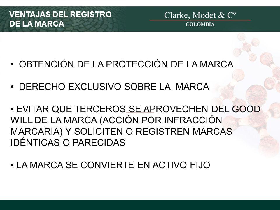 OBTENCIÓN DE LA PROTECCIÓN DE LA MARCA