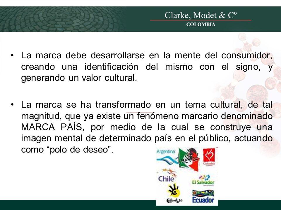 La marca debe desarrollarse en la mente del consumidor, creando una identificación del mismo con el signo, y generando un valor cultural.