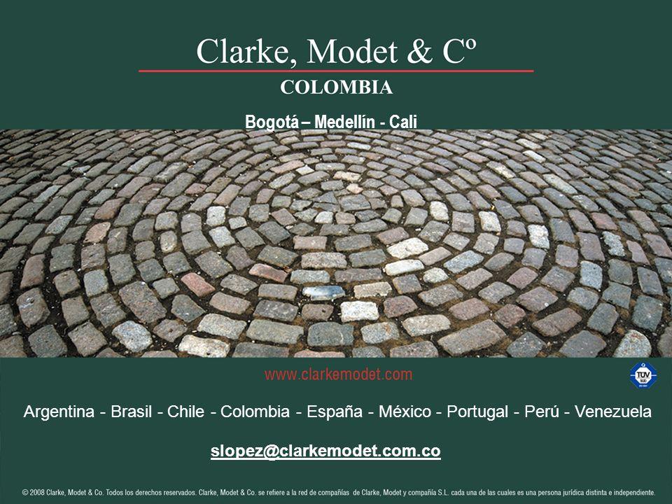 Bogotá – Medellín - Cali