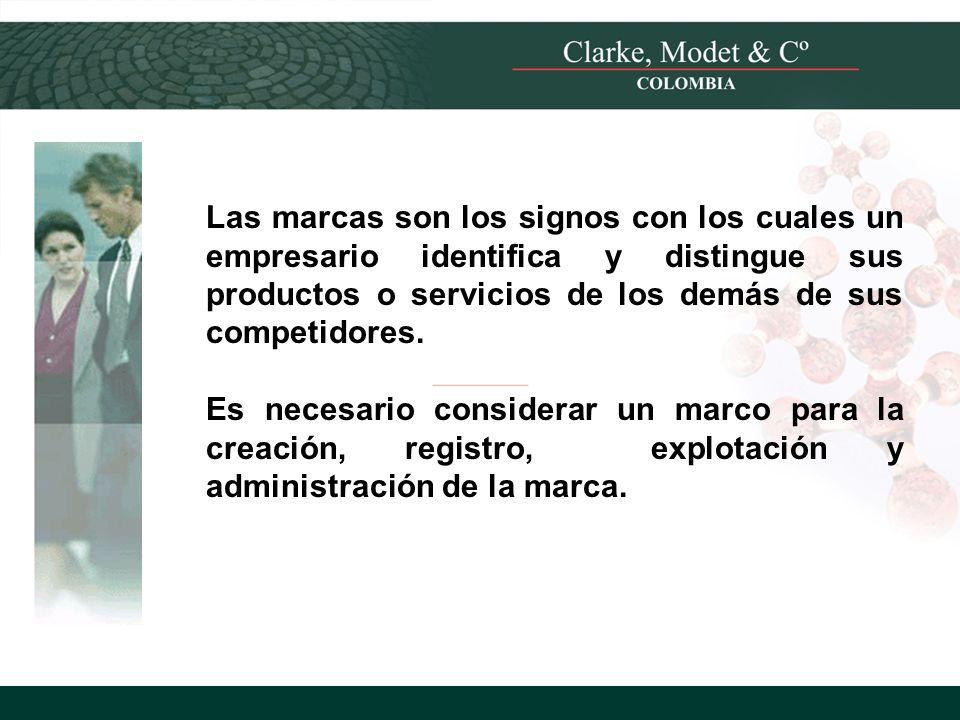 Las marcas son los signos con los cuales un empresario identifica y distingue sus productos o servicios de los demás de sus competidores.