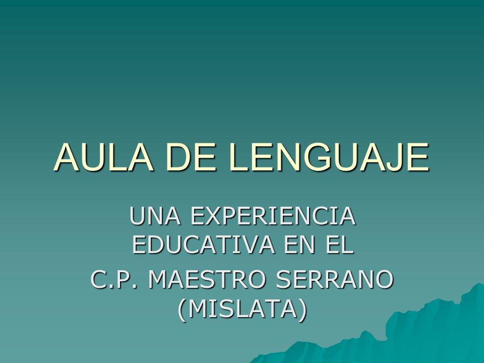 UNA EXPERIENCIA EDUCATIVA EN EL C.P. MAESTRO SERRANO (MISLATA)