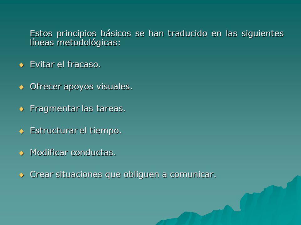 Estos principios básicos se han traducido en las siguientes líneas metodológicas: