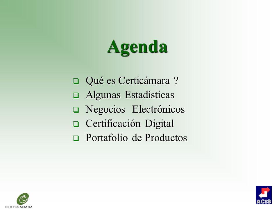 Agenda Qué es Certicámara Algunas Estadísticas Negocios Electrónicos