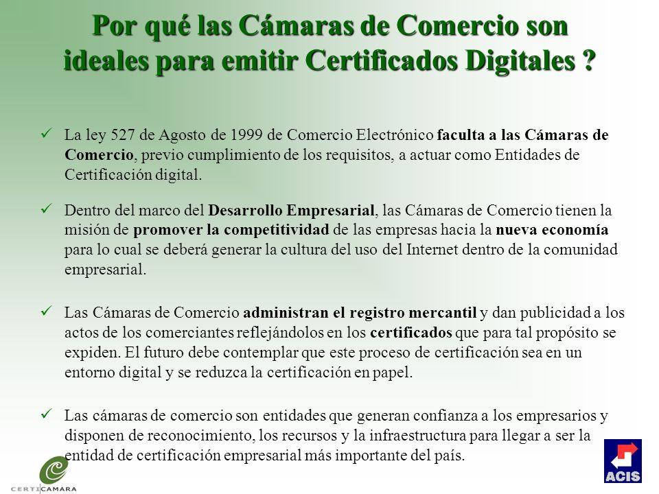 Por qué las Cámaras de Comercio son ideales para emitir Certificados Digitales