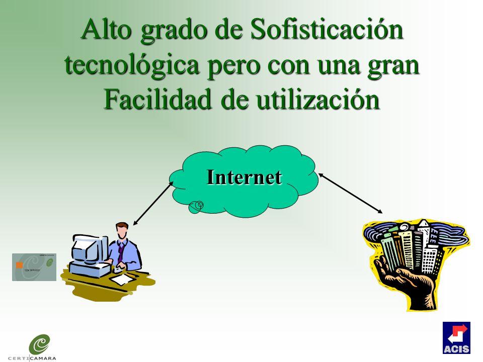 Alto grado de Sofisticación tecnológica pero con una gran Facilidad de utilización
