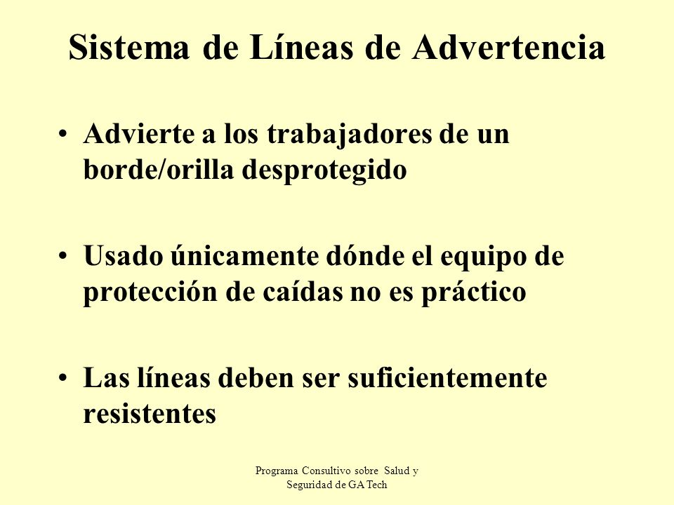 Sistema de Líneas de Advertencia