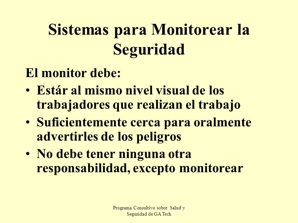 Sistemas para Monitorear la Seguridad