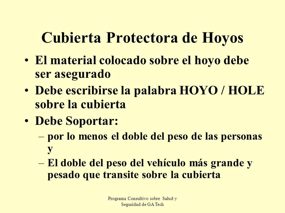 Cubierta Protectora de Hoyos