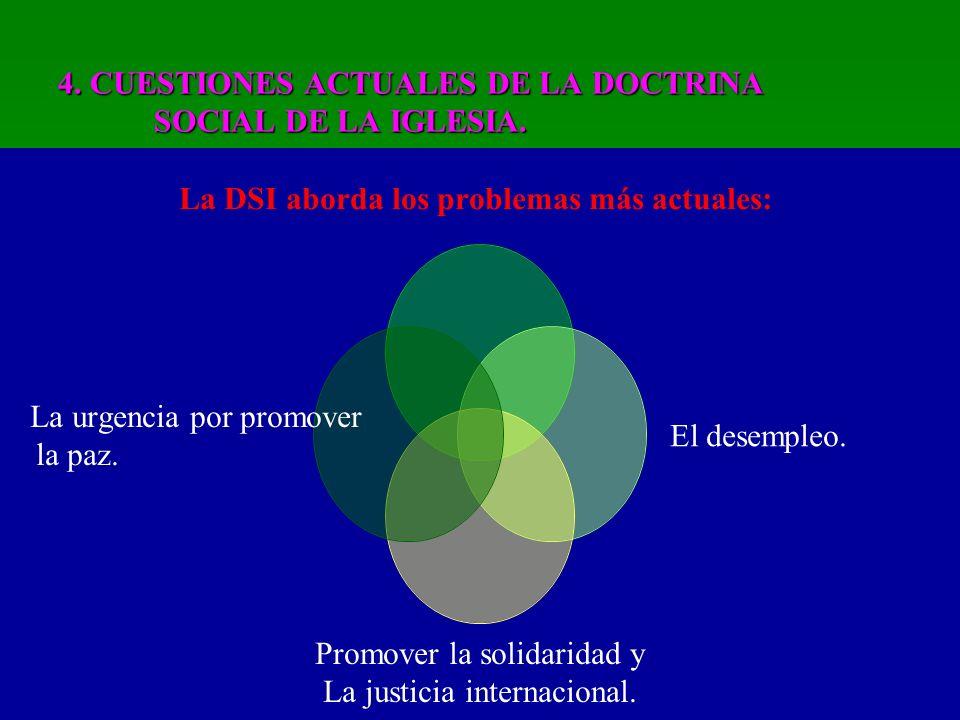4. CUESTIONES ACTUALES DE LA DOCTRINA SOCIAL DE LA IGLESIA.