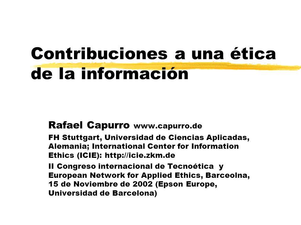Contribuciones a una ética de la información