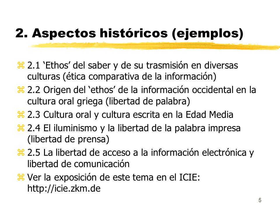 2. Aspectos históricos (ejemplos)