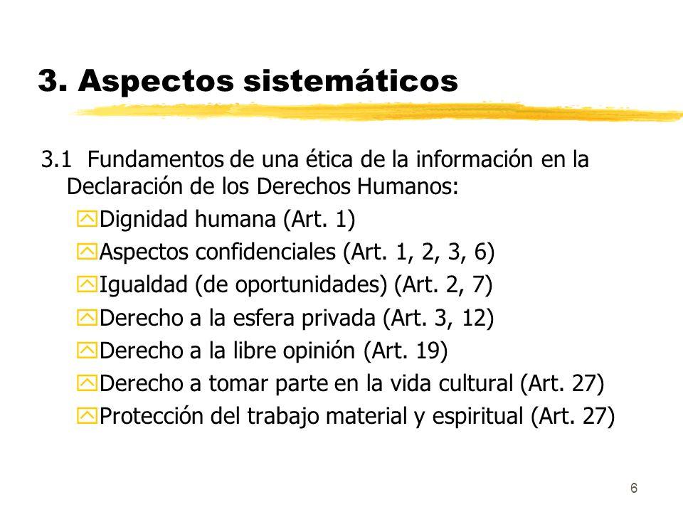 3. Aspectos sistemáticos