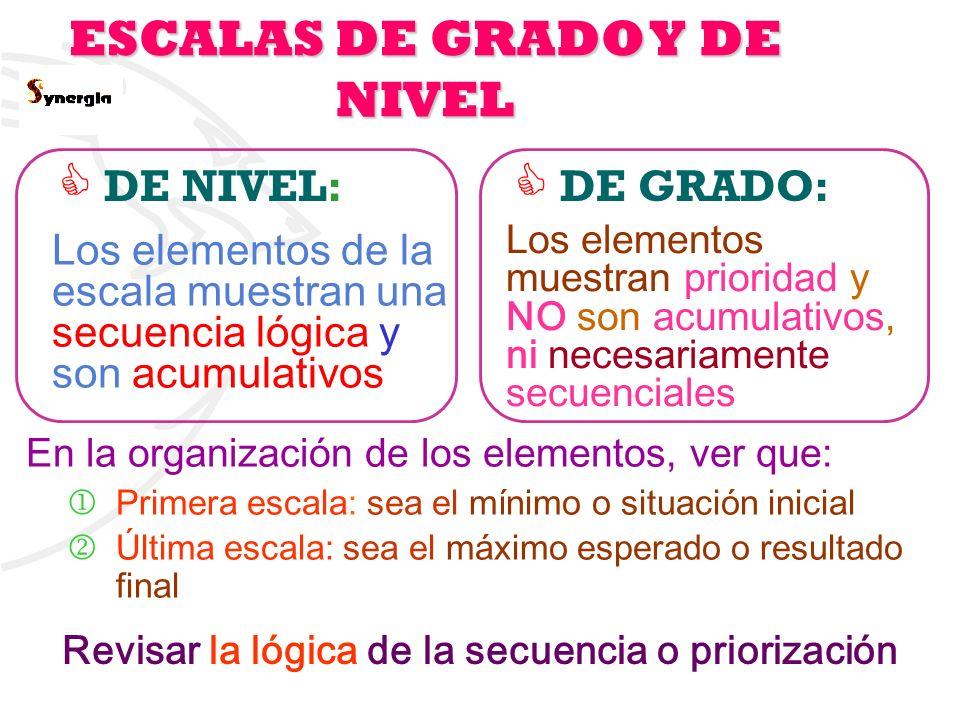 ESCALAS DE GRADO Y DE NIVEL