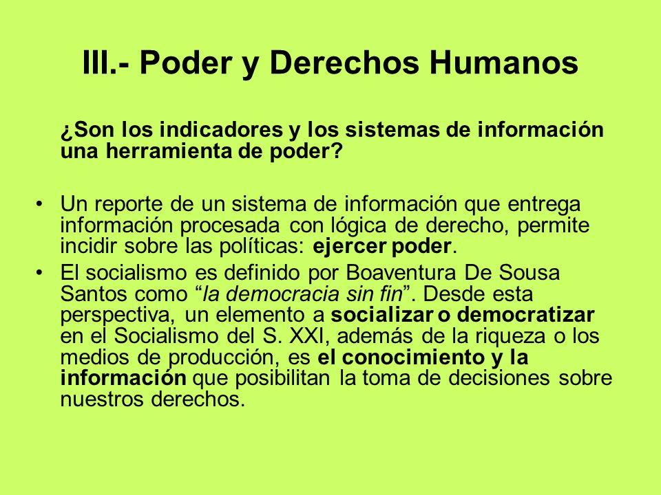 III.- Poder y Derechos Humanos