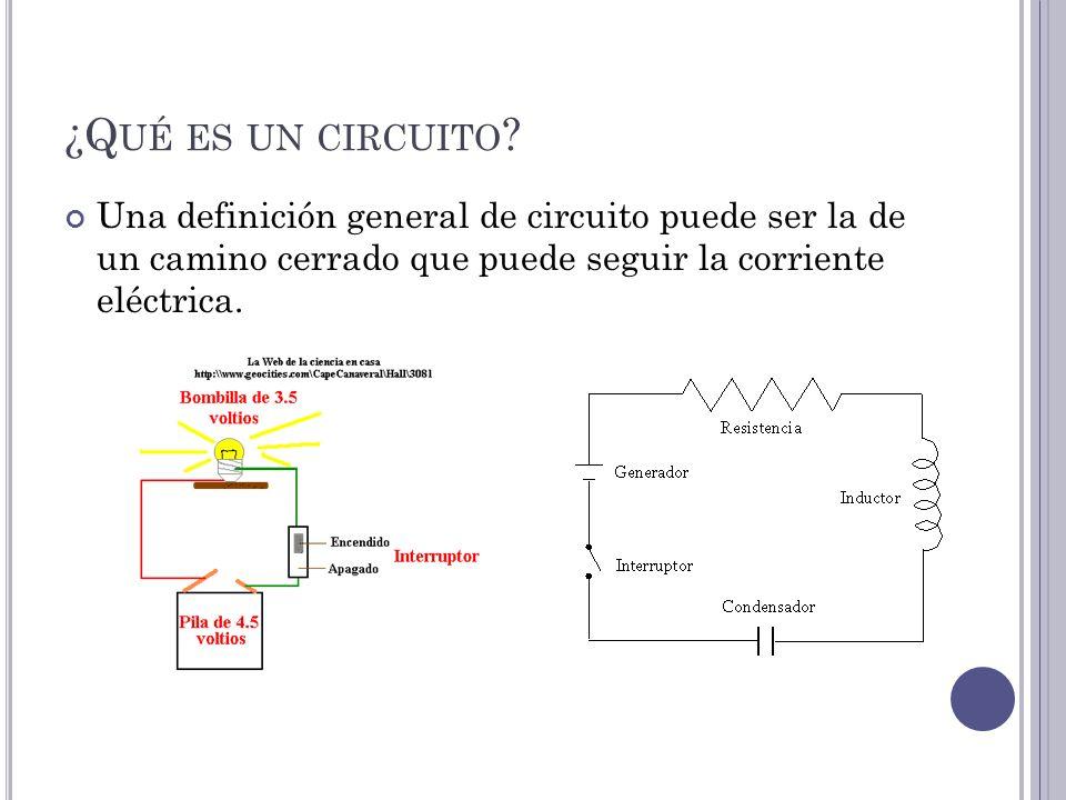 Circuito General : Qué es un circuito una definición general de