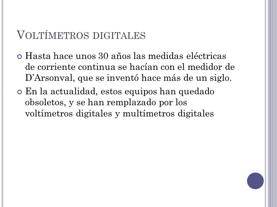 Voltímetros digitales