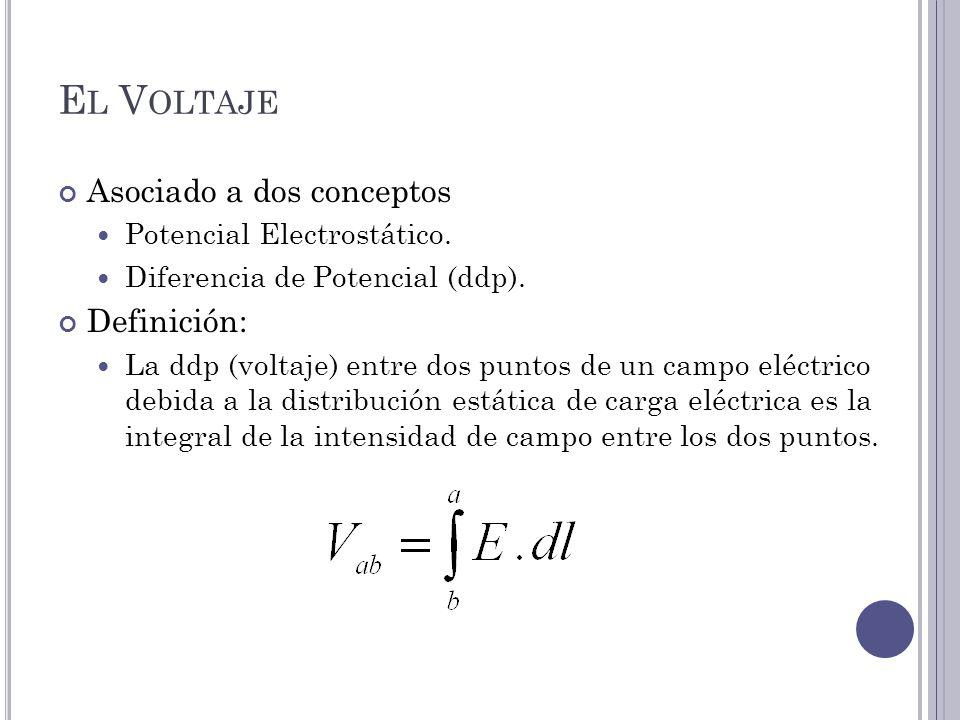 El Voltaje Asociado a dos conceptos Definición: