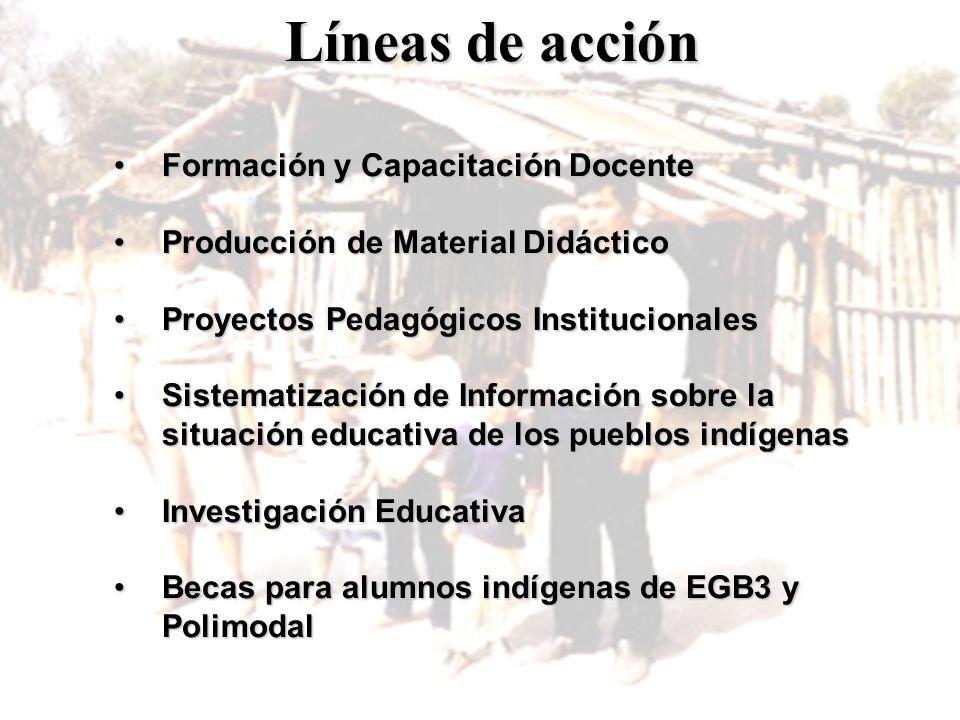 Líneas de acción Formación y Capacitación Docente