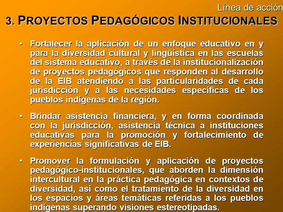 3. PROYECTOS PEDAGÓGICOS INSTITUCIONALES