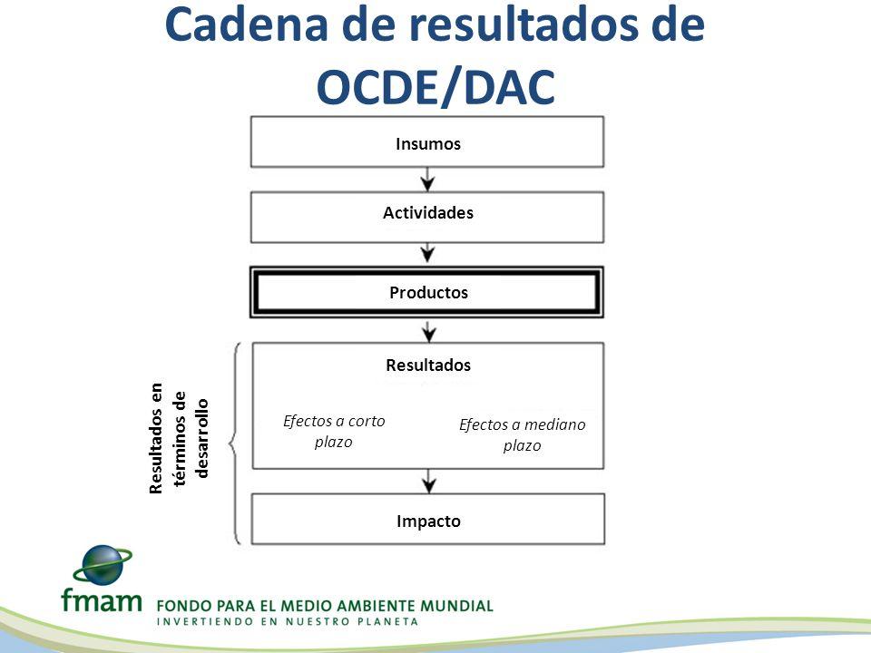 Cadena de resultados de OCDE/DAC