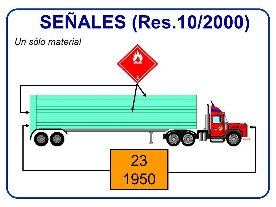 SEÑALES (Res.10/2000) Un sólo material 23 1950